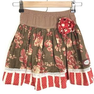 Persnickety floral polka dot elastic waist skirt 6